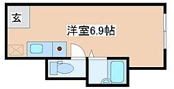 神戸市西神・山手線 長田駅 徒歩3分の賃貸アパート 1階ワンルームの間取り