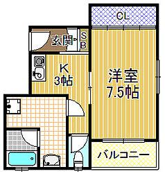 プレステージ2[3階]の間取り
