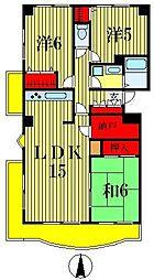ロイヤルグリーン松戸[4階]の間取り