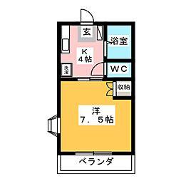 エルハイム勝川[1階]の間取り