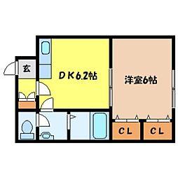 北海道札幌市北区北二十一条西8丁目の賃貸マンションの間取り
