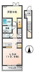 アヴァンティ 松ノ木[2階]の間取り