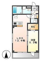 ヴェルム東別院[4階]の間取り