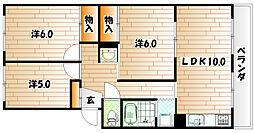 福岡県田川市丸山町の賃貸マンションの間取り