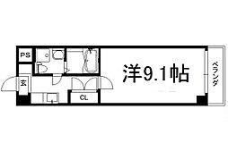 アートプラザ京田辺2 4階1Kの間取り