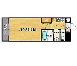 ピュアドームガーランド博多[2階]の間取り
