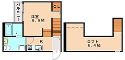 リブェ−ル井尻[2階]の間取り
