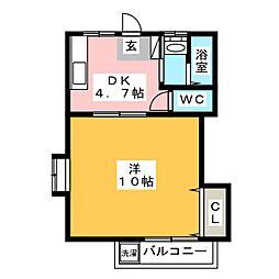 スカイガーデンI[1階]の間取り