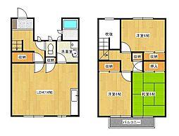祇園ガーデンハウス[B1号室]の間取り
