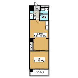 クイーンズリッチ東宿郷[8階]の間取り