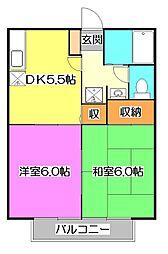 東京都西東京市ひばりが丘1丁目の賃貸アパートの間取り