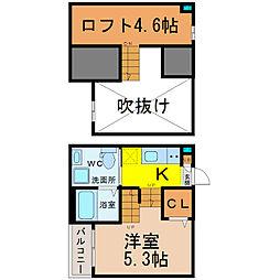 愛知県名古屋市中村区向島町5丁目の賃貸アパートの間取り