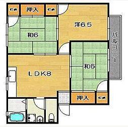 カーサエクレール2[1階]の間取り