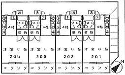 三井荘[202号室]の間取り