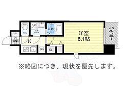 S-RESIDENCE黒川2 7階1Kの間取り