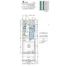 名古屋市営名城線 黒川駅 徒歩3分の賃貸マンション 8階1Kの間取り