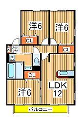 リビングタウン南青山 C棟[2階]の間取り