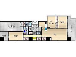カミオン別院[1階]の間取り