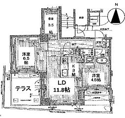 ロジュマン京都六角通[101号室号室]の間取り