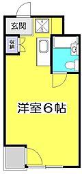 アメニティコウヤマ第6ガーデン[3階]の間取り