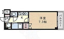 JR東海道・山陽本線 岸辺駅 徒歩13分の賃貸マンション 2階1Kの間取り