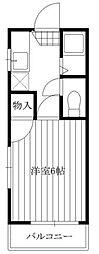 シャトー青木[3階]の間取り