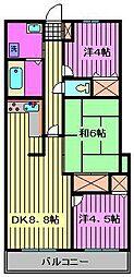 セレブラール蕨[5階]の間取り