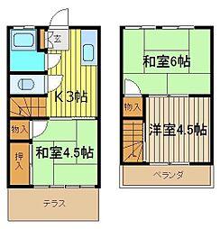[テラスハウス] 埼玉県朝霞市根岸台2丁目 の賃貸【/】の間取り