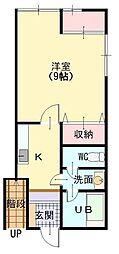 ROOMS ISHIZAKI 21[102号室]の間取り