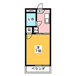 リベール須崎[1階]の間取り