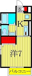 フォレストメゾン・シバII[1階]の間取り