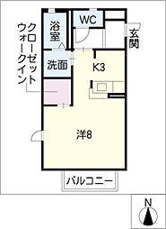 グレイス B[2階]の間取り