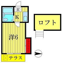東京都葛飾区堀切6丁目の賃貸アパートの間取り