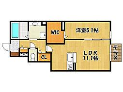 山陽電鉄本線 人丸前駅 徒歩12分の賃貸アパート 1階1LDKの間取り