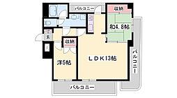 ラインビルド五軒邸メゾン山口壱番館 7階2LDKの間取り