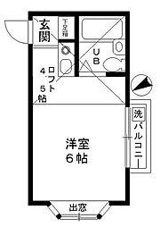 スカイコーポラス[2階]の間取り