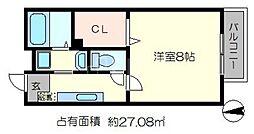 ルレールfI[2階]の間取り