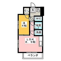 マストスタイル東別院[10階]の間取り