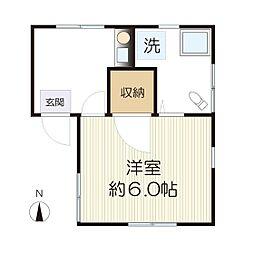 東三田コーポ[1-A号室]の間取り