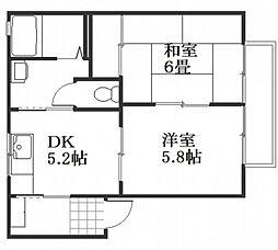ブロッサム桜尾[2階]の間取り