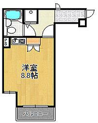 兵庫県西宮市室川町の賃貸マンションの間取り