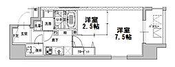 ファーストフィオーレ心斎橋イーストII[3階]の間取り