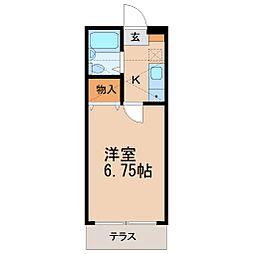 ジュネパレス藤沢第13[1階]の間取り