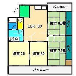 パークサイド高須[1階]の間取り