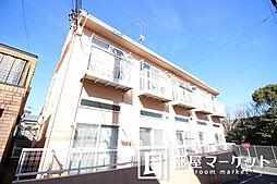 愛知県豊田市千足町比丘尻の賃貸アパートの外観