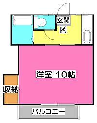 所沢アレイ[2階]の間取り