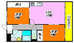 ロイヤル・クレール201号室[2階]の間取り