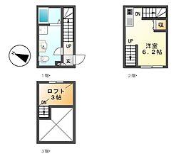キャリアハウス伝馬町[1階]の間取り