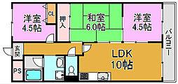 メゾンエトワール 川俣本町 高井田15分[3階]の間取り