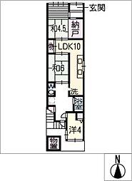 [一戸建] 愛知県名古屋市熱田区青池町2丁目 の賃貸【/】の間取り